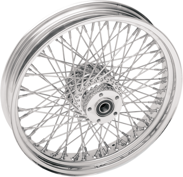 "Chrome Front Wheel Assembly 80 Spoke 16""x3.5"" SMV"