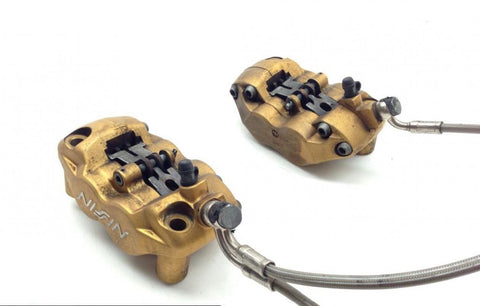 Left Right Front Brake Calipers Pads Set from 2007 Triumph Daytona 675 1646A