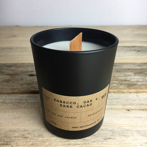 Tobacco, Oak + Dark Cacao Candle