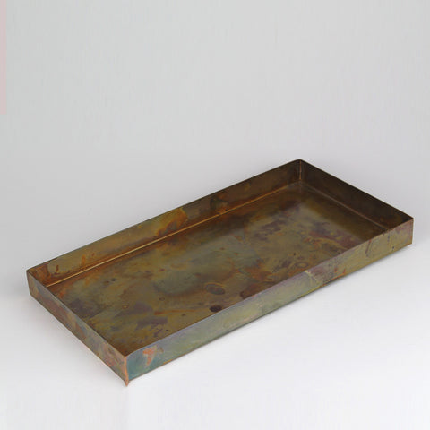Antique Copper Finish Metal Tray