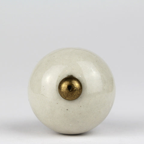 Kitu Ceramic Knob | Cream