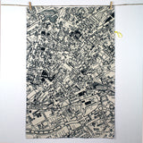 Manchester Map Tea Towel by Mr PS