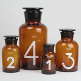 Brown Glass Pharmacy Bottle | Number 3