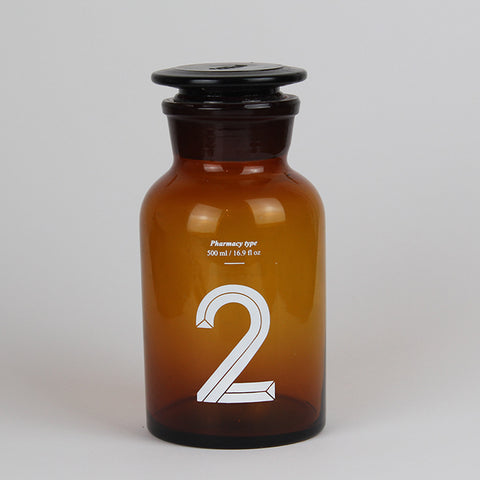 Brown Pharmacy Bottle Number 2 500ml Capacity