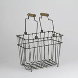 Wire Storage Basket with Handles | Grey