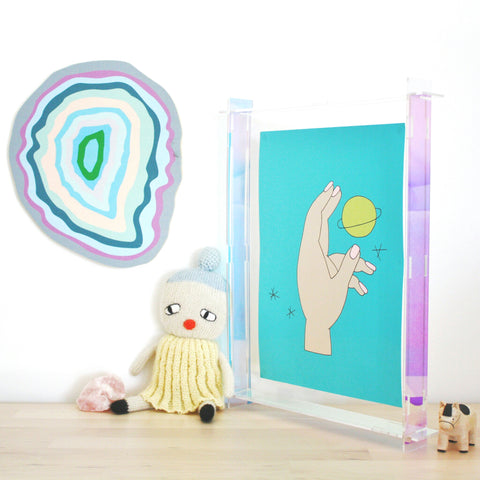 Iridescent Acrylic Perspex Box Frame