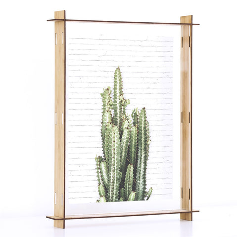 Bamboo Acrylic Perspex Box Frame