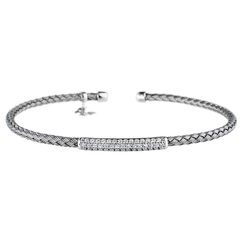 Entwined CZ Bar Bracelet Vamp London