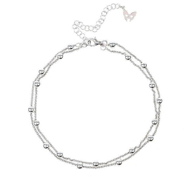 Vamp Chic Rio Silver Ankle Chain - Vamp London