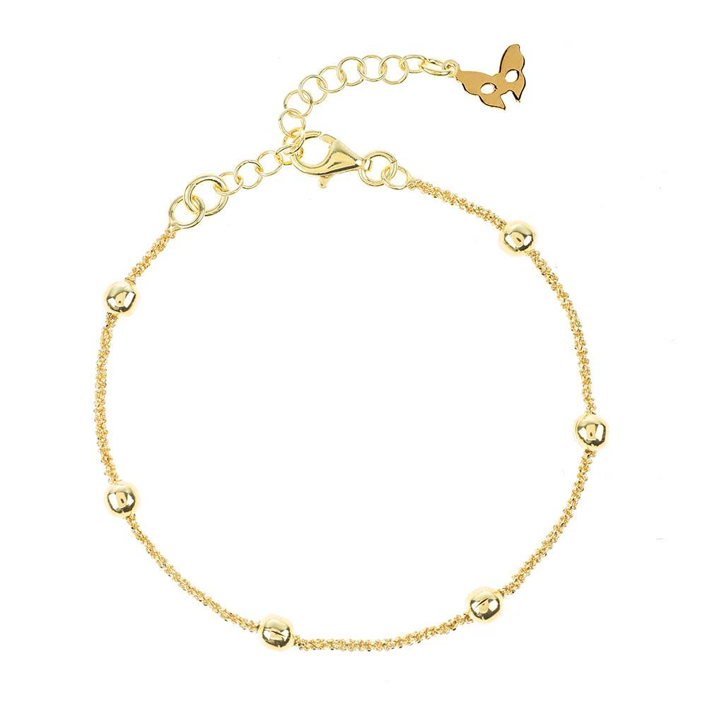 Vamp Chic Rio Beaded Yellow Gold Bracelet - Vamp London