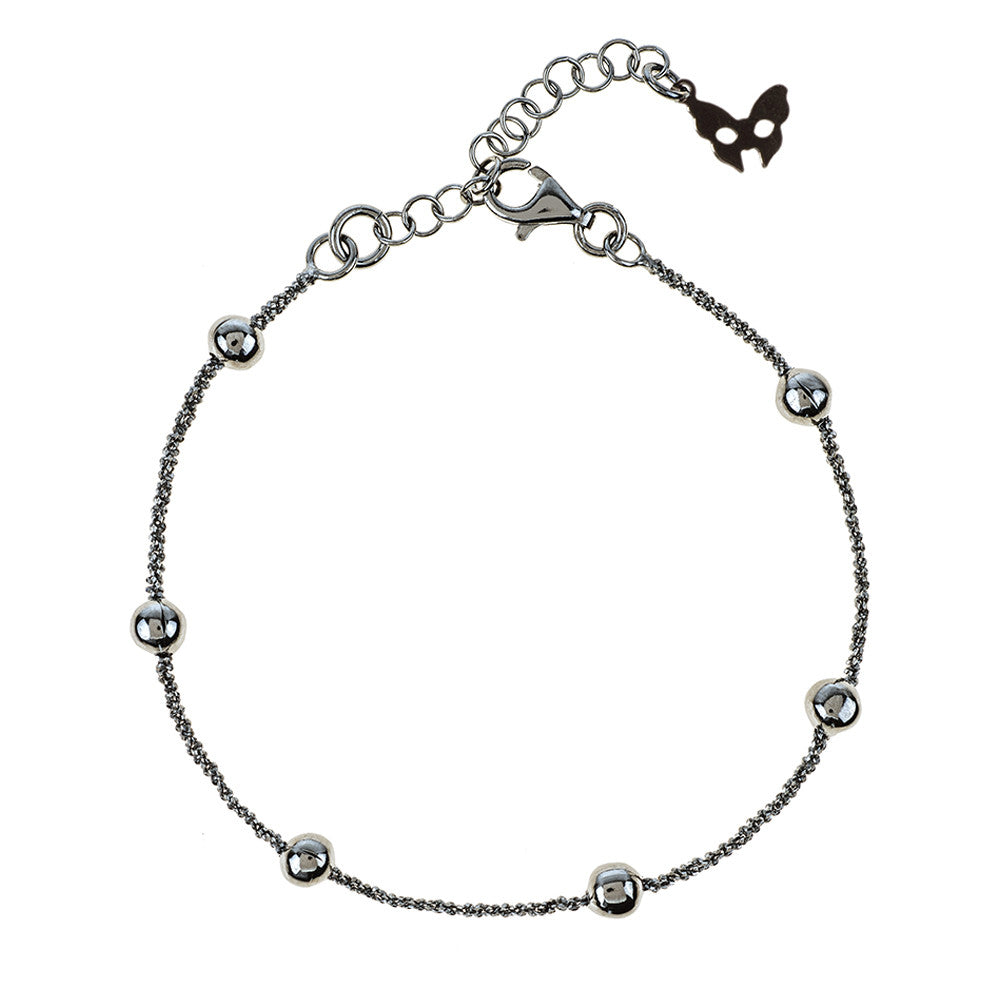 Vamp Chic Rio Beaded Ruthenium Bracelet - Vamp London