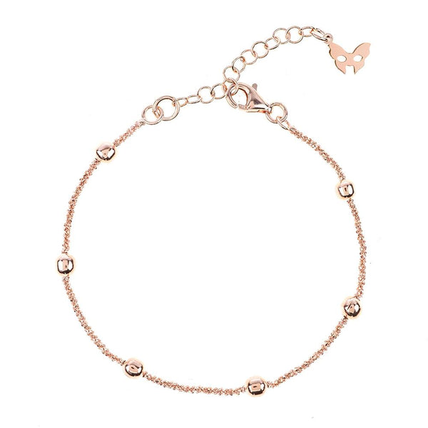 Vamp Chic Rio Beaded Rose Gold Bracelet - Vamp London