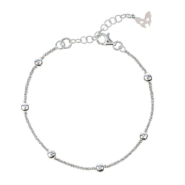 Vamp Chic Rio Beaded Silver Bracelet - Vamp London