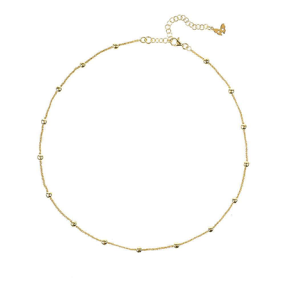 Yellow Gold Collar Necklace | Vamp London Jewellery