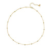 Vamp Chic Rio Beaded Collar Yellow Gold Necklace - Vamp London