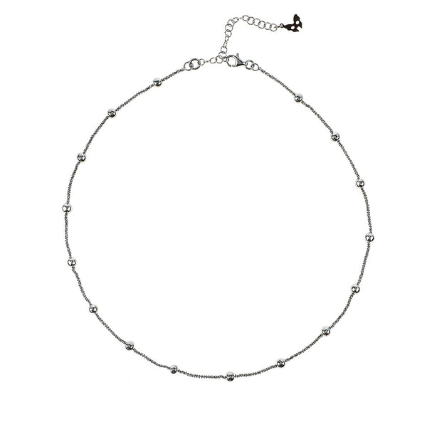 Vamp Chic Rio Beaded Collar Ruthenium Necklace - Vamp London