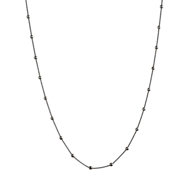 Vamp Chic Rio Beaded Ruthenium Long Necklace - Vamp London