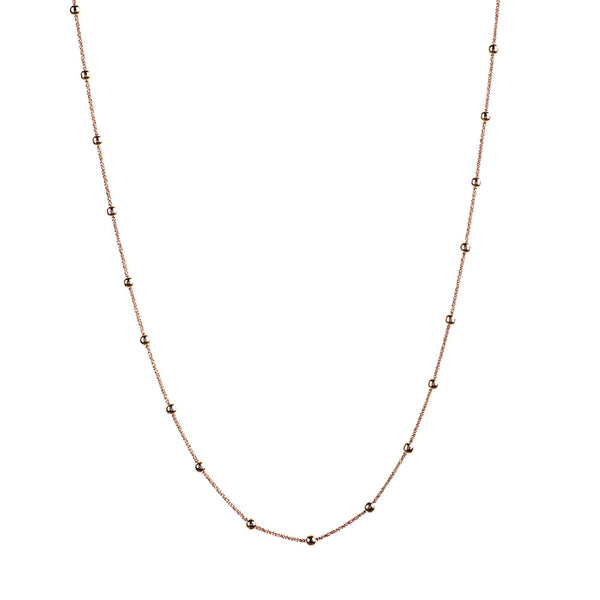 Vamp Chic Rio Beaded Rose Gold Long Necklace - Vamp London