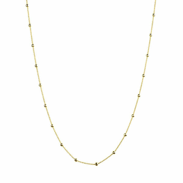 Vamp Chic Rio Beaded Yellow Gold Long Necklace - Vamp London