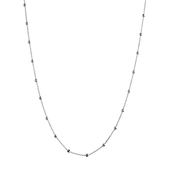 Vamp Chic Rio Beaded Silver Long Necklace - Vamp London