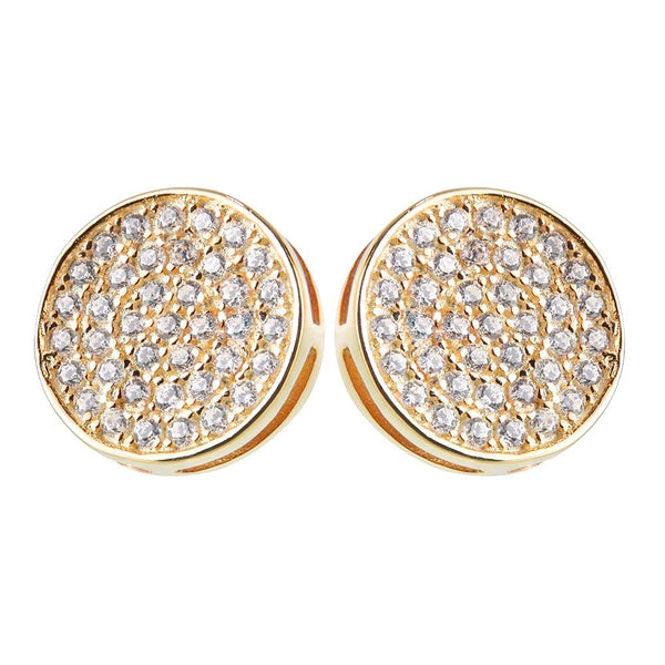 Yellow Gold Disc Earrings | Vamp London Jewellery