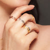 Yellow Gold V Ring | Vamp London Jewellery