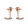 Attitude Rose Gold Ear Jackets - Vamp London