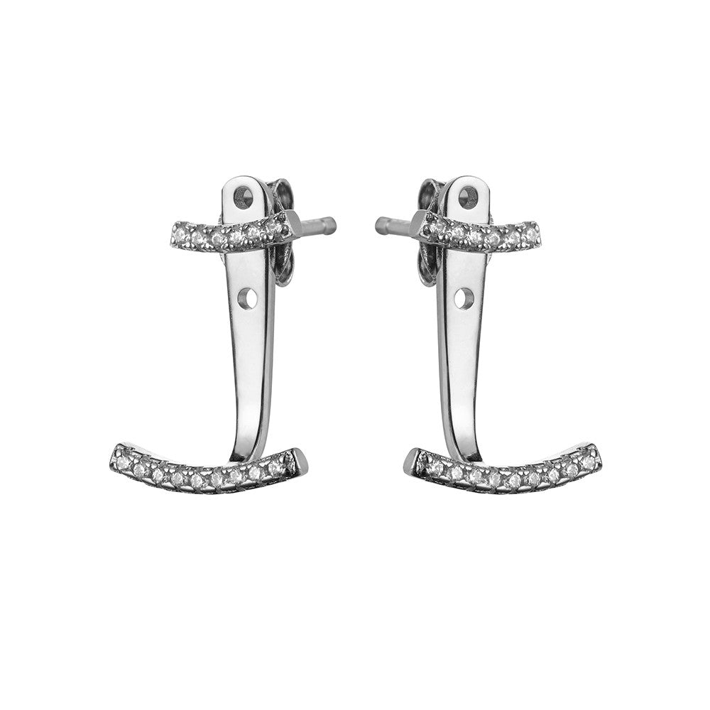 Silver Ear Jackets | Vamp London Jewellery