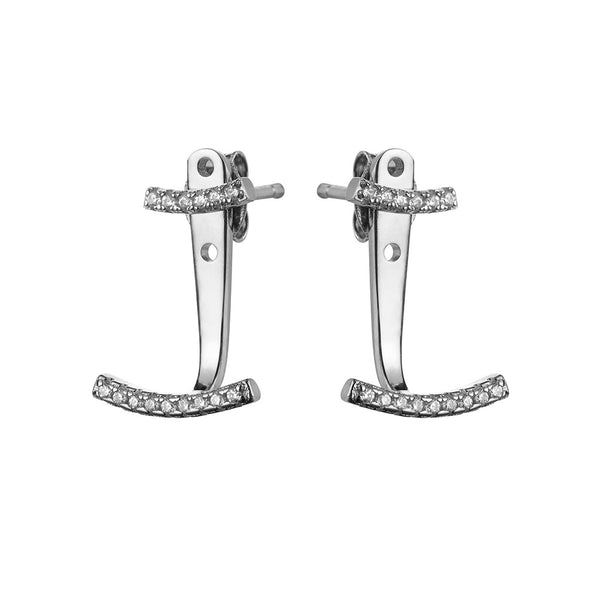 Attitude Silver Ear Jackets - Vamp London