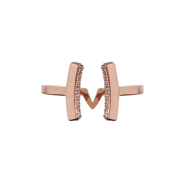 Attitude Rose Gold Cuff Ring - Vamp London