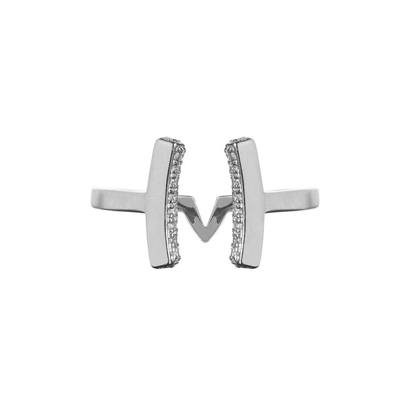 Attitude Silver Cuff Ring - Vamp London