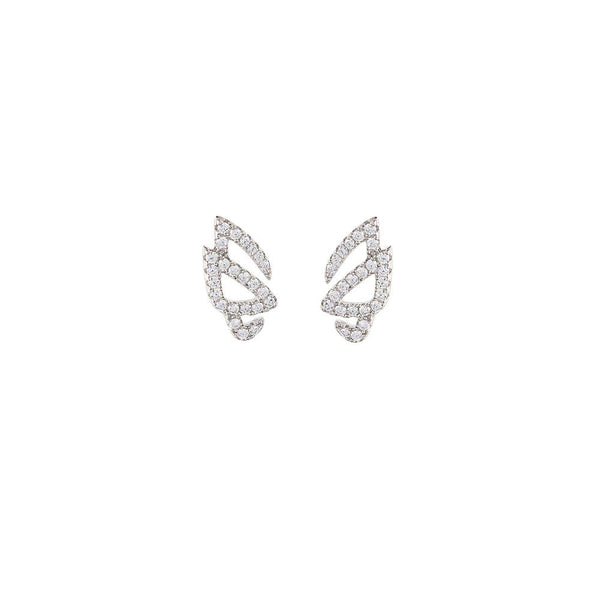 Hidden Mask Unmasked Silver Stud Earrings - Vamp London