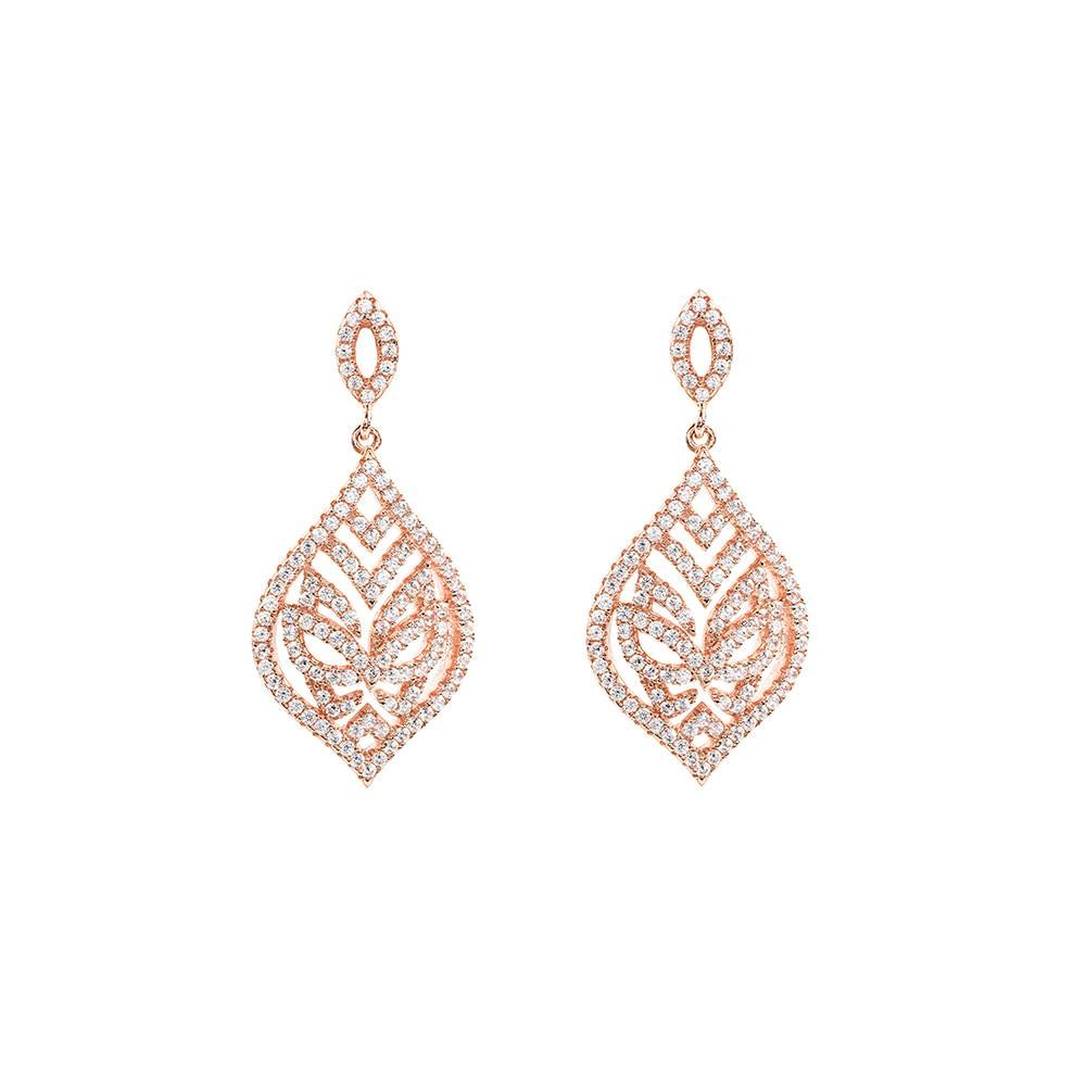 Rose Gold Tear Drop Earrings | Vamp London Jewellery
