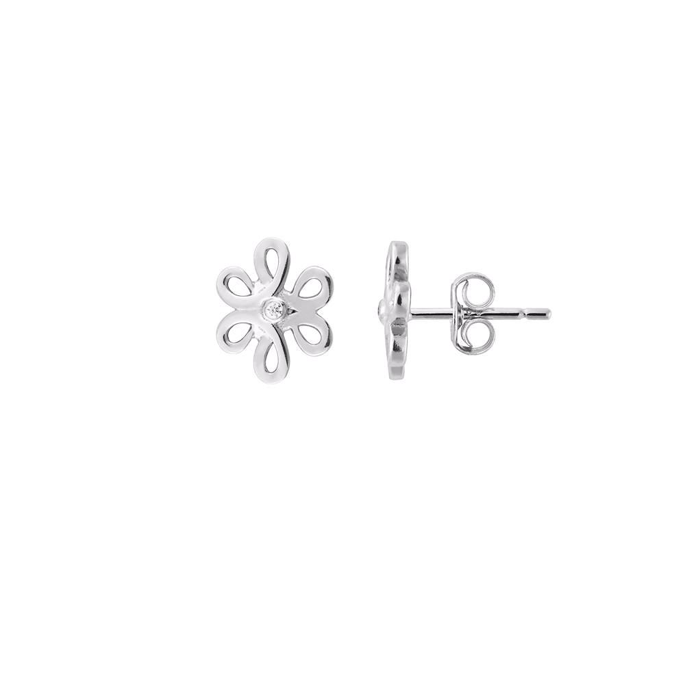 Silver Flower Studs | Vamp London Jewellery