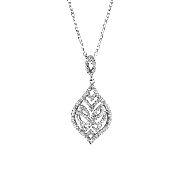 Silver Tear Drop Necklace | Vamp London Jewellery