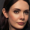 Hidden Mask Single Spike Rose Gold CZ Stud Earrings - Vamp London