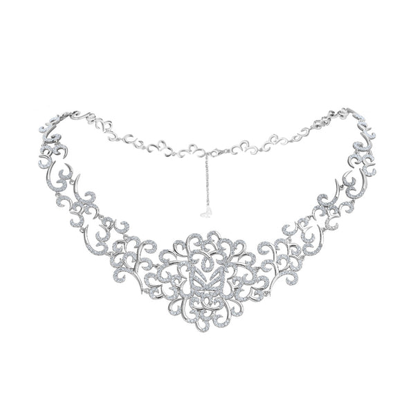 Hidden Mask Silver Choker Necklace - Vamp London