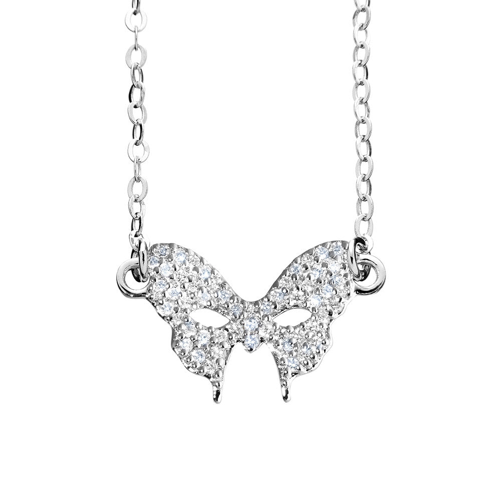 Silver Mask Necklace | Vamp London Jewellery