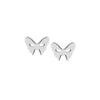 Masquerade Plain Vamp Mask Silver Earrings