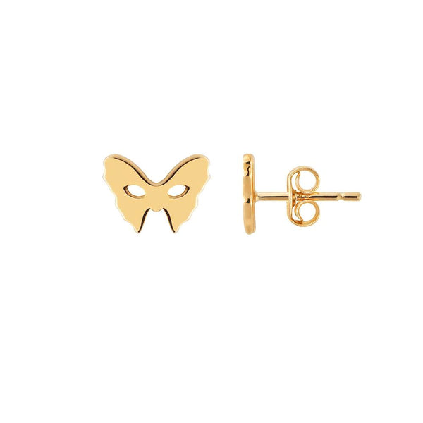 Yellow Gold Mask Earrings | Vamp London Jewellery