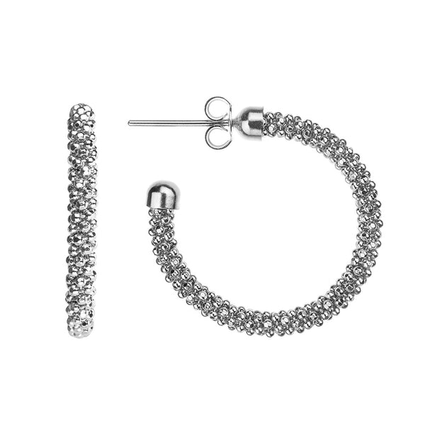 Silver Mesh Hoops | Vamp London Jewellery