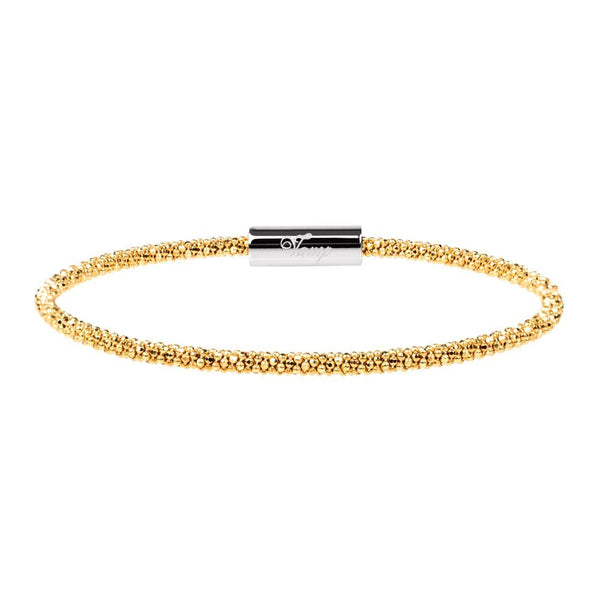 Yellow Gold Skinny Bracelet | Vamp London Jewellery