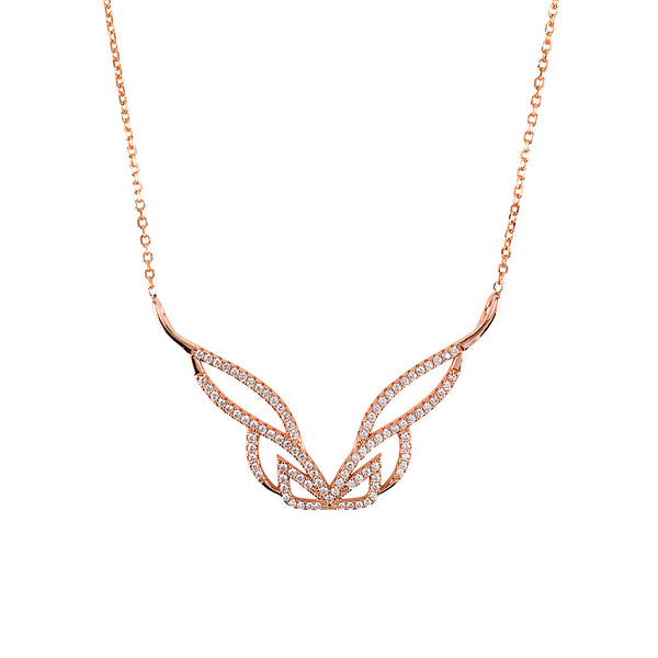 Hidden Mask Pure Rose Gold Necklace - Vamp London