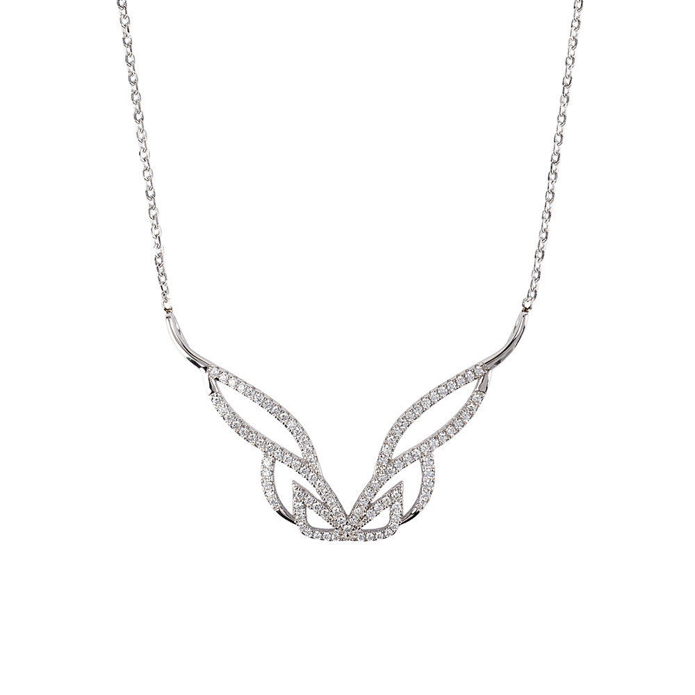 Hidden Mask Pure Silver Necklace - Vamp London