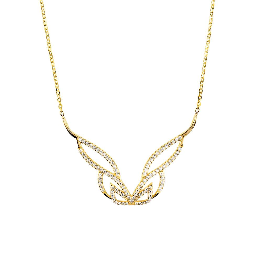Hidden Mask Pure Yellow Gold Necklace - Vamp London