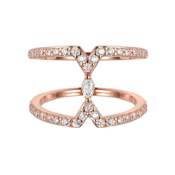 Rose Gold Marquise Ring | Vamp London Jewellery