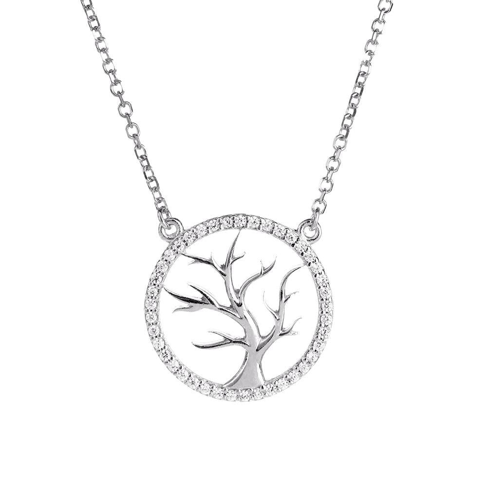 Symbolic Tree of Life Silver Necklace - Vamp London