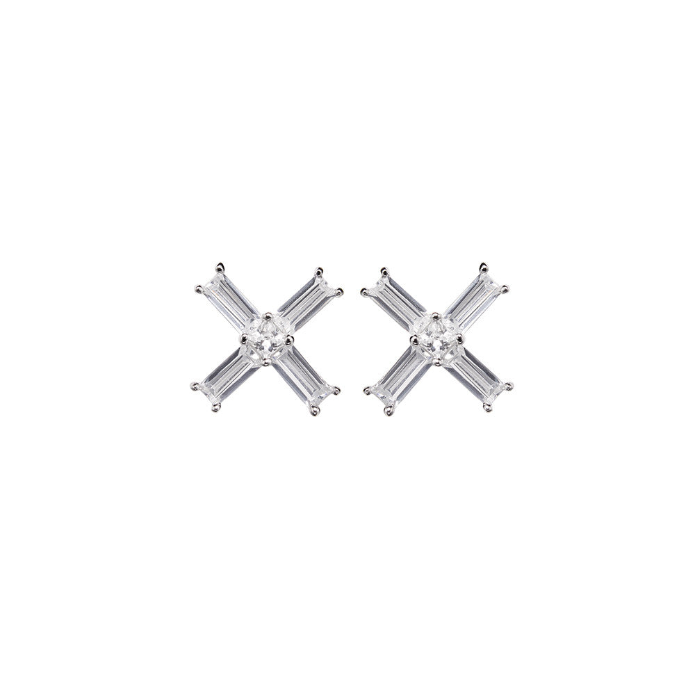 Silver Baci Earrings | Vamp London Jewellery