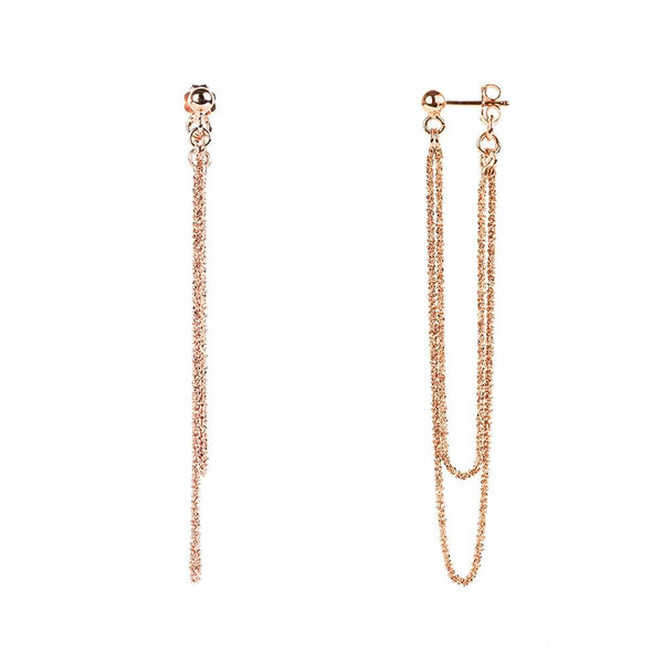 Vamp Chic Rio Rose Gold Earrings - Vamp London