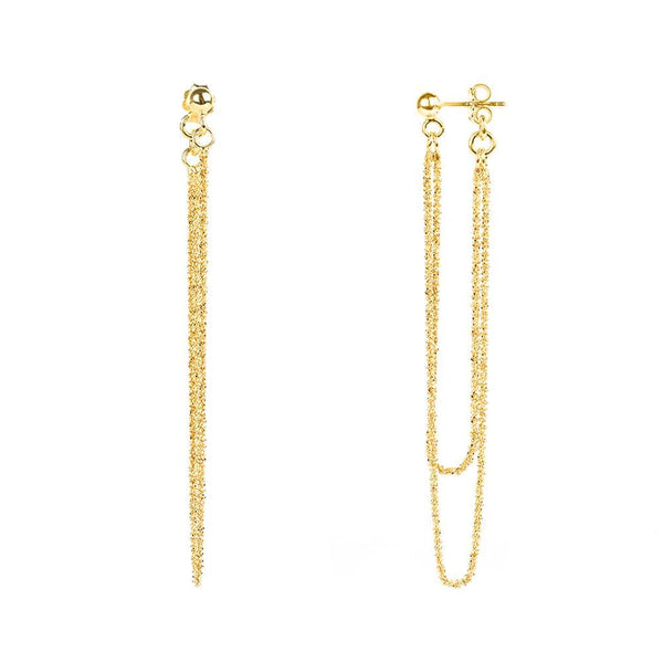 Vamp Chic Rio Yellow Gold Earrings - Vamp London